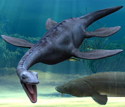 sturgeon and plesiosaur